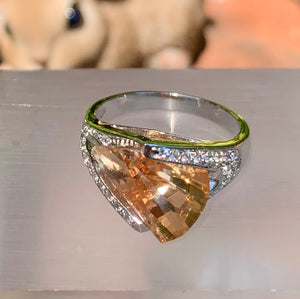 Contemporary Citrine Ring