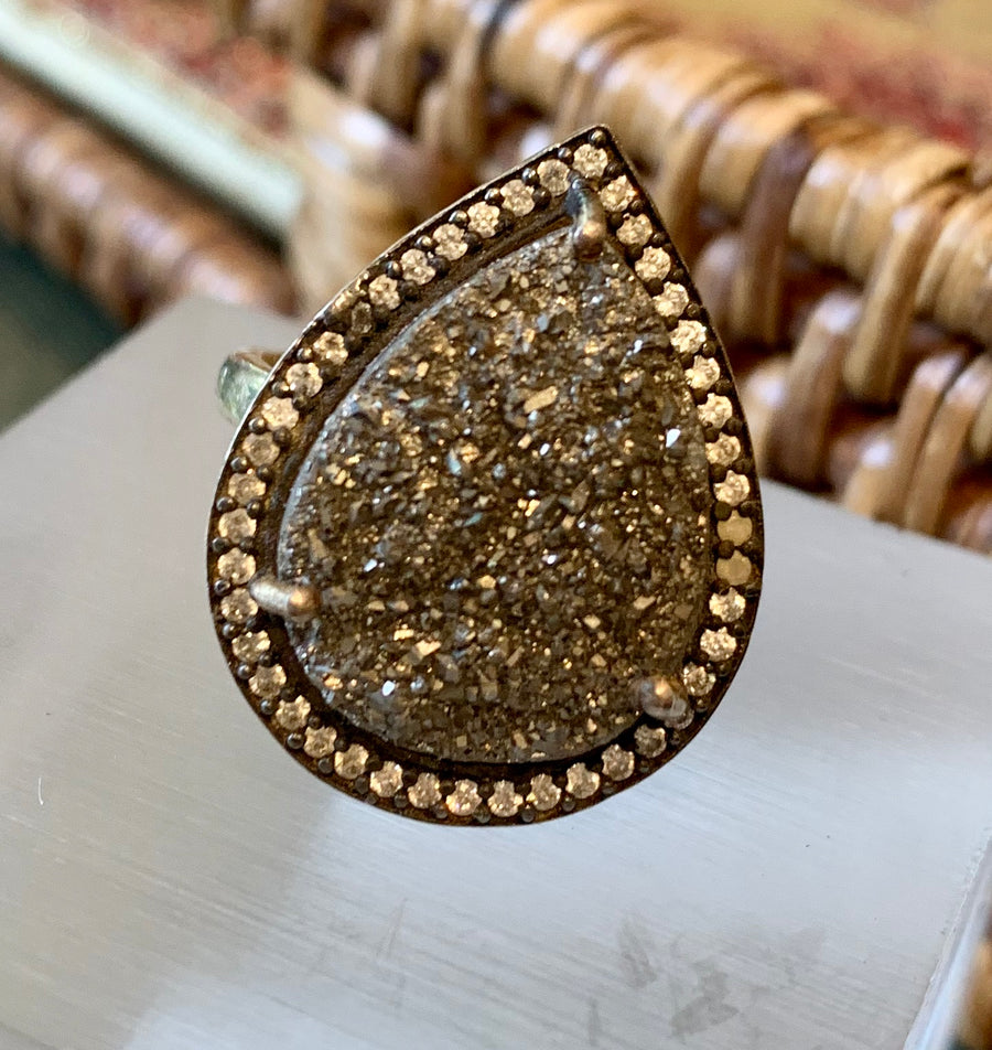 Pyrite Embellished Ring