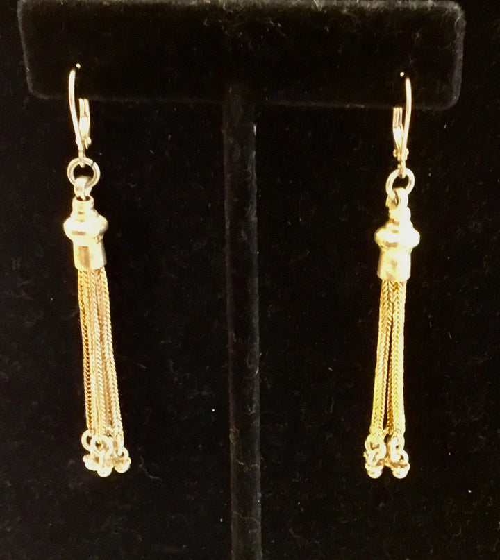 Sale Gold Plated Tassel Earrings
