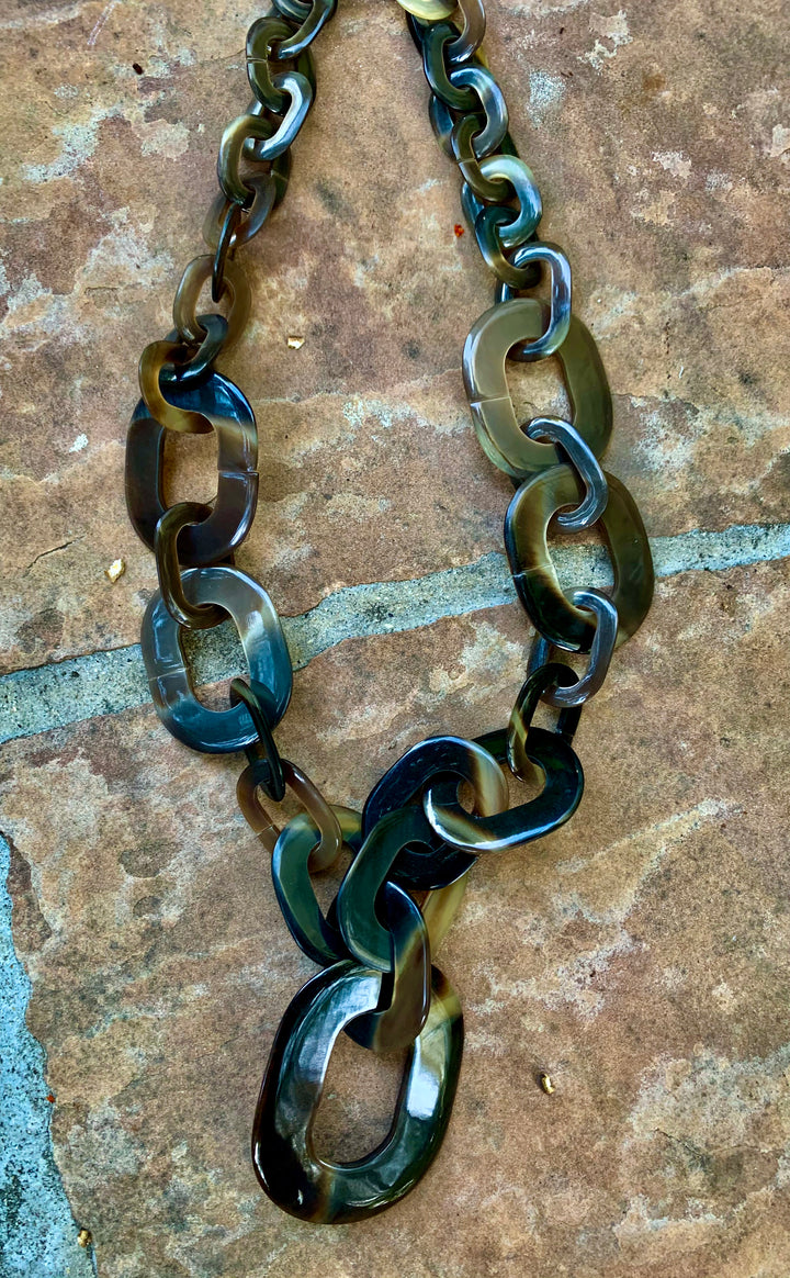 Water Buffalo Horn Long Necklace