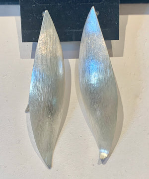 Slice of Silver Earrings