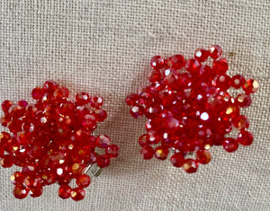 Sale Clip on Crystal Earrings