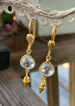 Small Lemon Quartz earrings