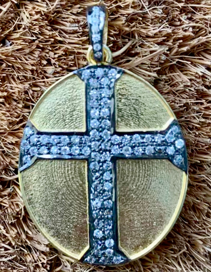 Gold Plated Cross Charm