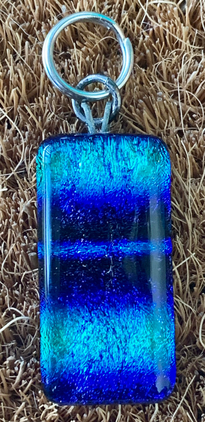 Blue Fused Glass Charm