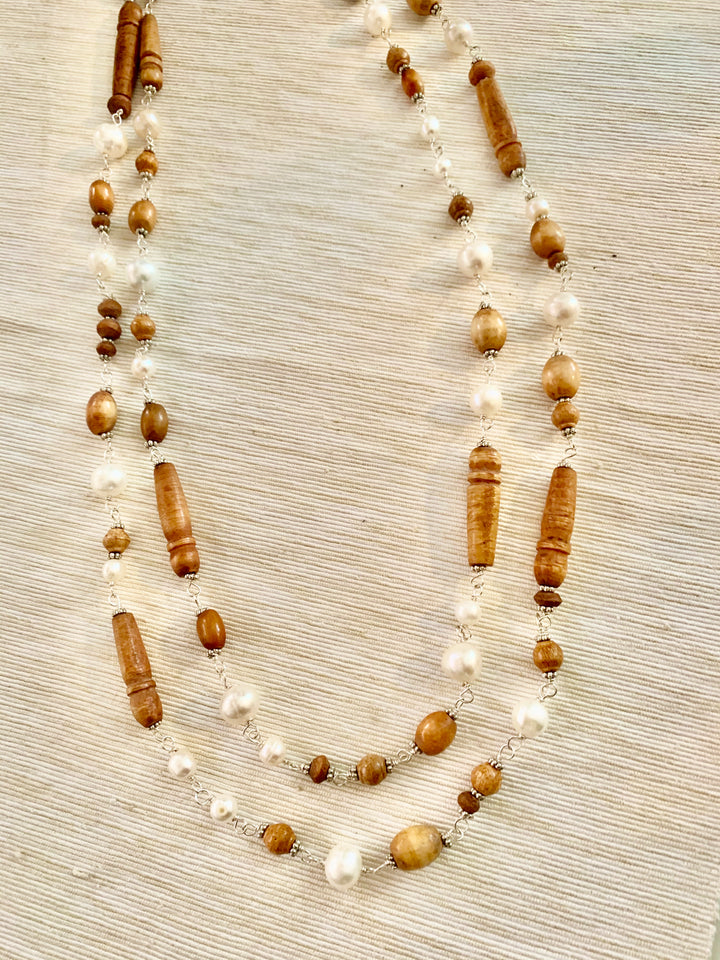 Pearls and Rosary Necklace
