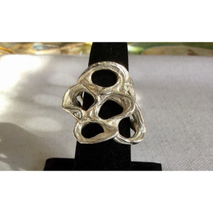 SALE Free Form Silver Ring