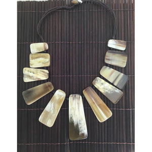 Polished Horn Necklace