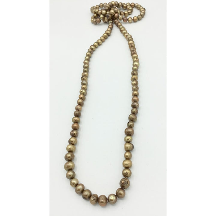 Golden Honey Pearl Necklace