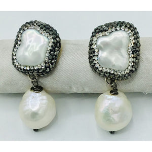 Pearl Drop Crystral Earrings