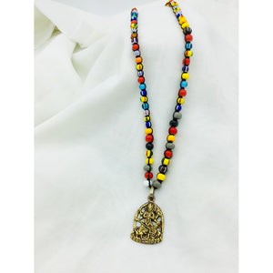 Multi Colored Buddha Necklace