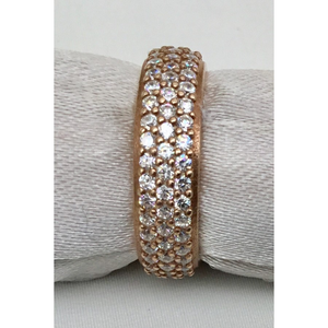 Stackable Rose Gold & CZ Ring