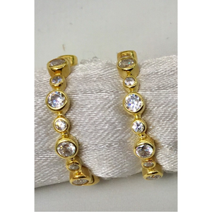 Stackable Gold & Crystal Ring