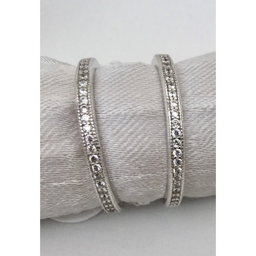 Stackable Sterling Silver and CZ Ring