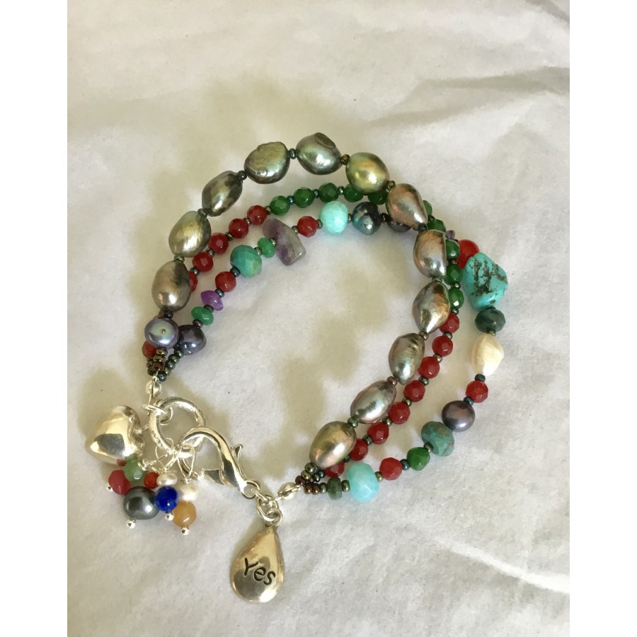 Three Bands of Charm Bracelet