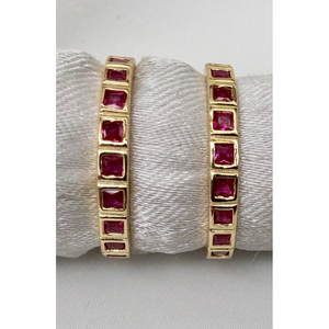 Stackable Simulated Ruby Ring