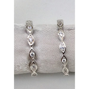 Stackable Sparkling Row of Ovals Ring