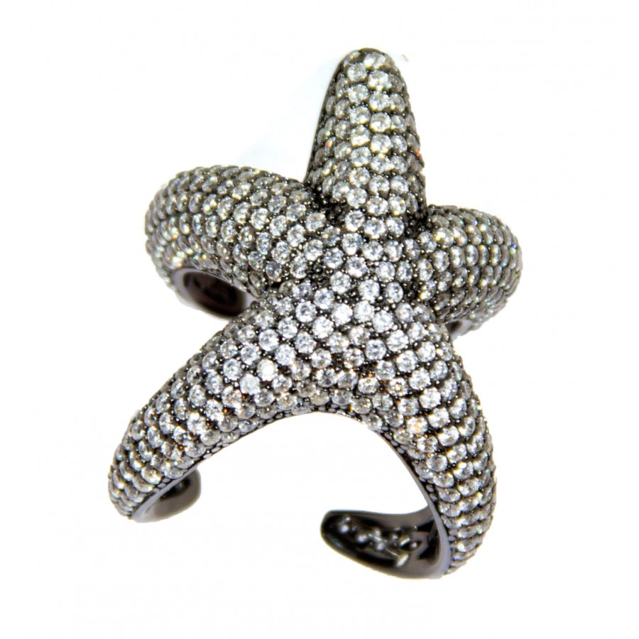 Sterling Starfish Ring