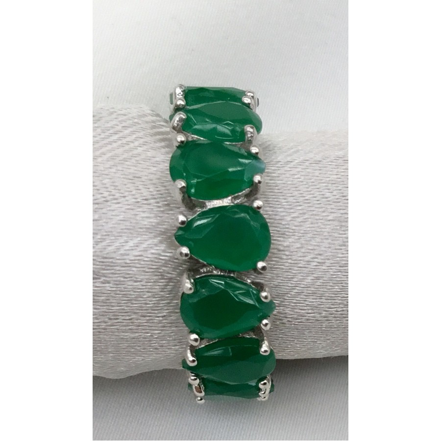 Sterling Silver & Emerald Ring