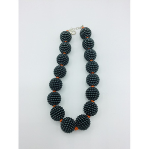 SALE - Slate Gray Beaded Necklace