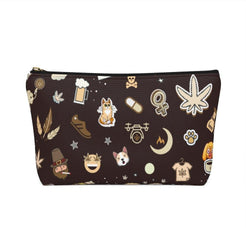 Load image into Gallery viewer, Cannabis Makeup Bag (Cafe)