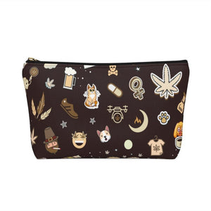 Cannabis Makeup Bag (Cafe)