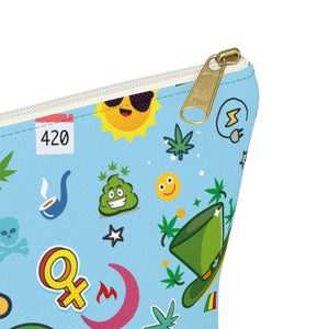 Cannabis Makeup Bag (Blue) - Nine41