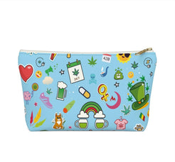 Load image into Gallery viewer, Cannabis Makeup Bag (Blue)