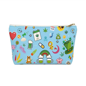 Cannabis Makeup Bag (Blue)