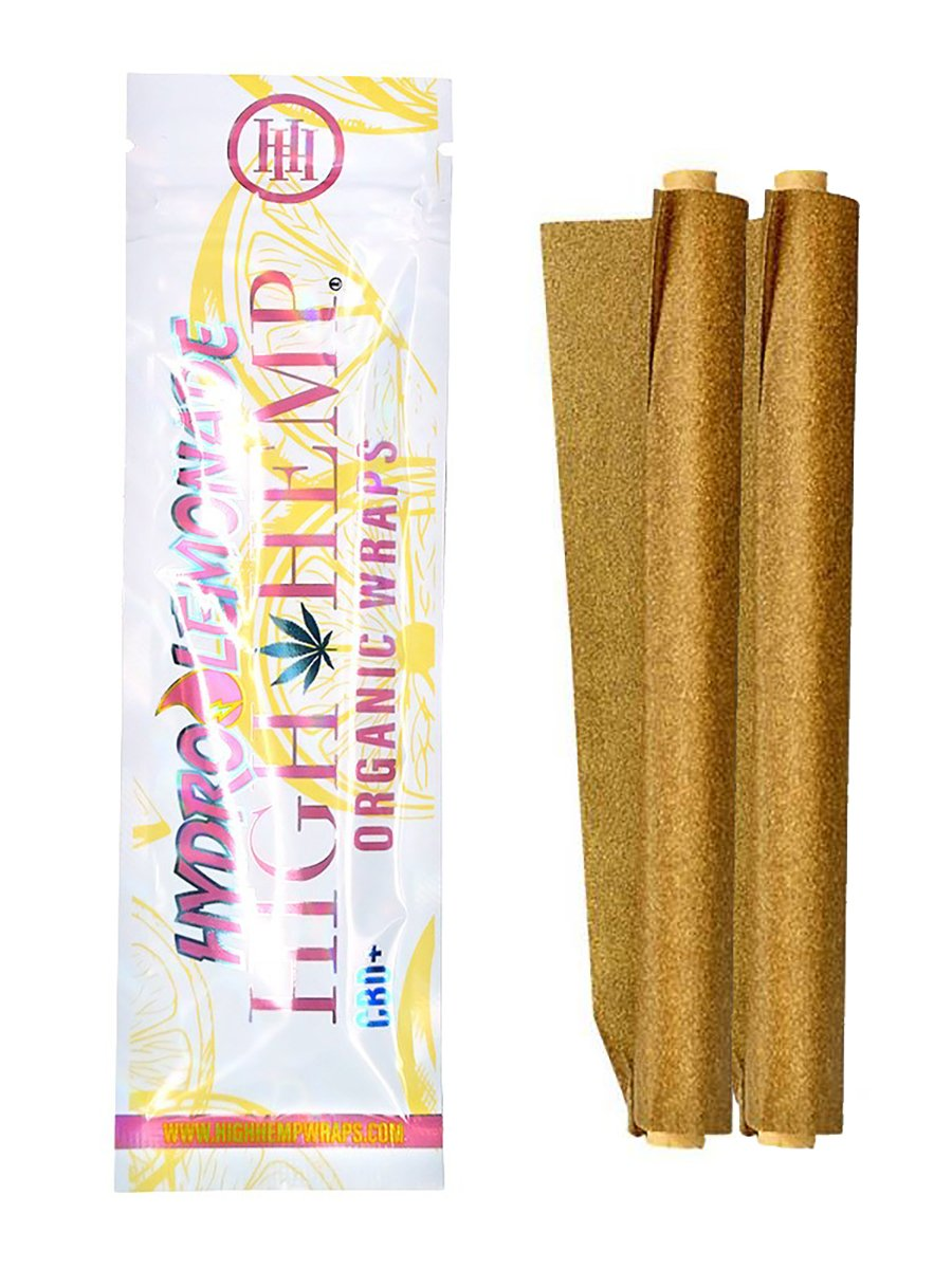 Organic Lemonade Hemp Wraps - 2 Pack