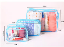 Load image into Gallery viewer, Transparent Travel Cosmetic Bags