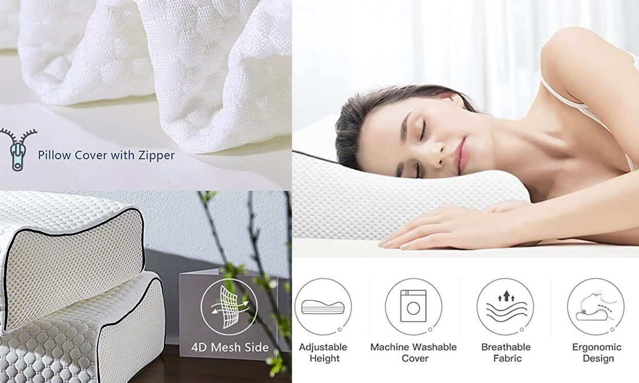 Pillow Memory Foam with Free Pillowcase