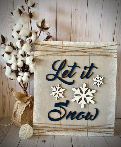 DIY Wooden Sign Kit - Let It Snow