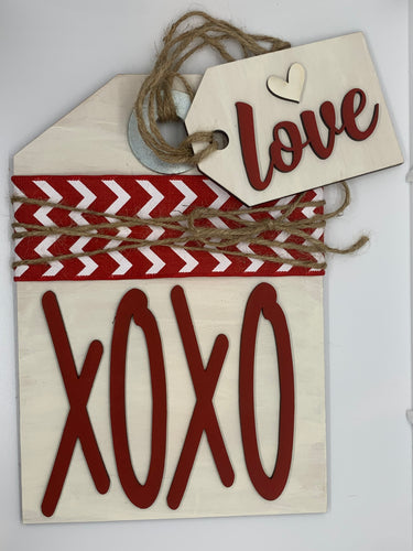 DIY Wooden Sign Kit - XOXO White and Red