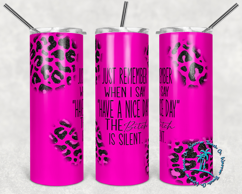 Just Remember Neon Pink Digital Design