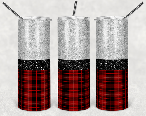 Plaid and Glitter Digital Design