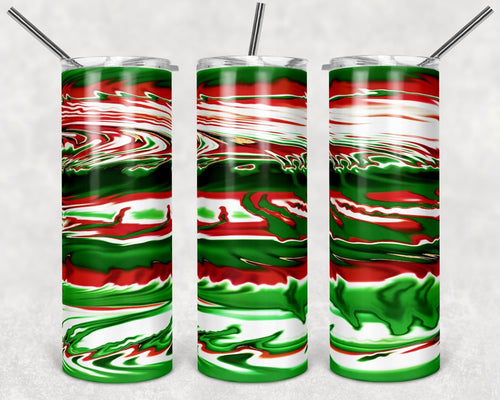 Red white and green Digital Design