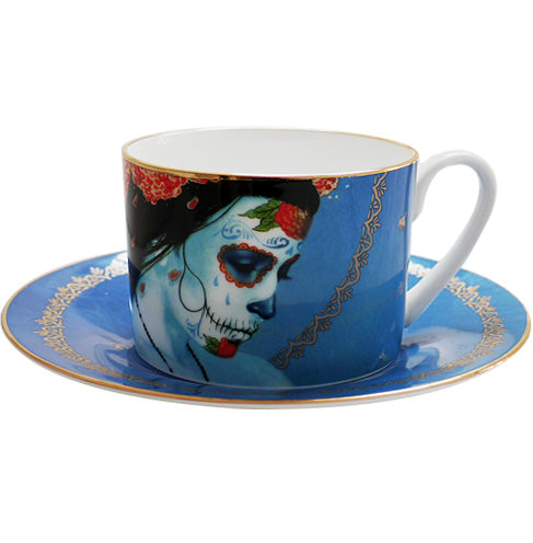 Blue Drift Teacup & Saucer set, 1/250