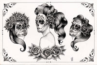 '3 Catrinas' Flash Print