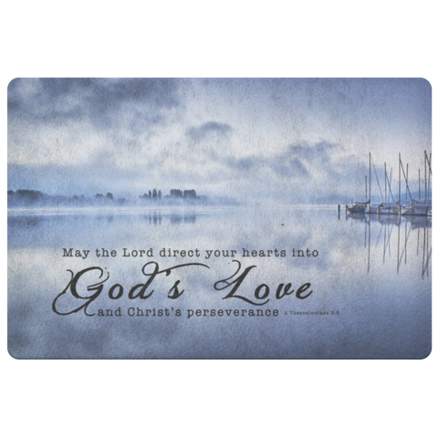 Bible Verses Anti-Slip Protective Doormat - Direct Your Heart Into The Love of God ~2 Thessalonians 3:5~