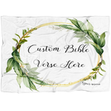 Customizable Artistic Minimalist Bible Verse Premium Mink Sherpa Blanket With Your Signature (Design: Square Garland 17)
