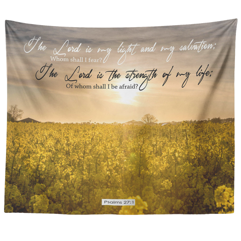 The Lord Is The Strength Of My Life ~Psalm 27:1~ - Meditate Healing Christian Store