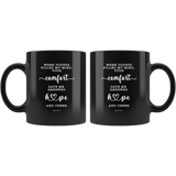 Typography Dishwasher Safe Black Mugs - Your Comfort Delights My Soul ~Psalm 94:19~