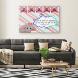 Hope Inspiring Nursery & Kids Bedroom Framed Canvas Wall Art - God Is With Me Always ~Matthew 28:20~ (Design: Elephant)