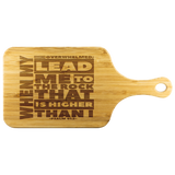MeditateHealing.com Organic Bamboo Wood Cutting Board With Handle