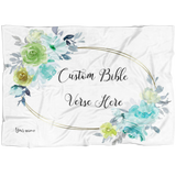 Customizable Artistic Minimalist Bible Verse Premium Mink Sherpa Blanket With Your Signature (Design: Rectangle Garland 7)