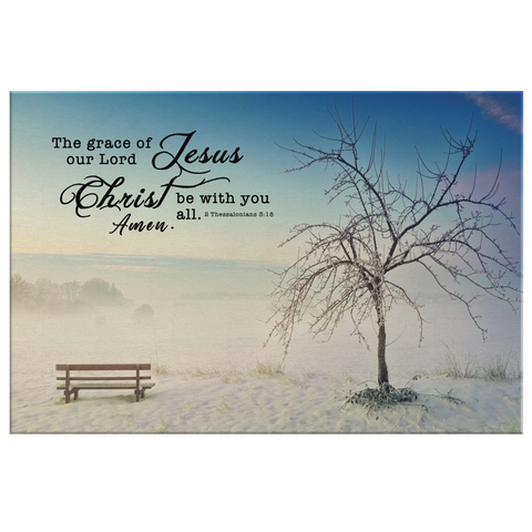Gallery Quality Framed Canvas Art - Grace of Lord Be With You ~2 Thessalonians 3:18~