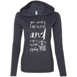 "Bible Verse Ladies' Long Sleeve T-Shirt Hoodie - ""Psalm 119:105"" Design 18 (White Font) - Meditate Healing Christian Store"