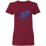 "Bible Verses Ladies' 5.3 oz. T-Shirt - ""Psalms 61:2"" Design 12 - Meditate Healing Christian Store"