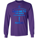 "Bible Verse Long Sleeve Ultra Cotton T-Shirt - ""Psalm 61-2"" Design 1 - Meditate Healing Christian Store"